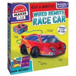Klutz DIY Wired Remote Race Car Science/STEM Kit Maker Lab